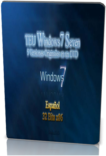 Windows Seven 7. 5 Versiones en 1 DVD. 32 Bits x86. Español