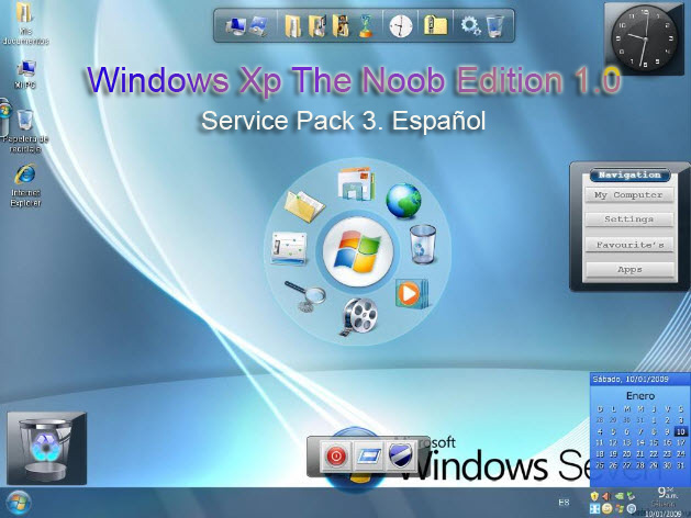 Windows Xp The Noob Edition 1.0. Service Pack 3. Español