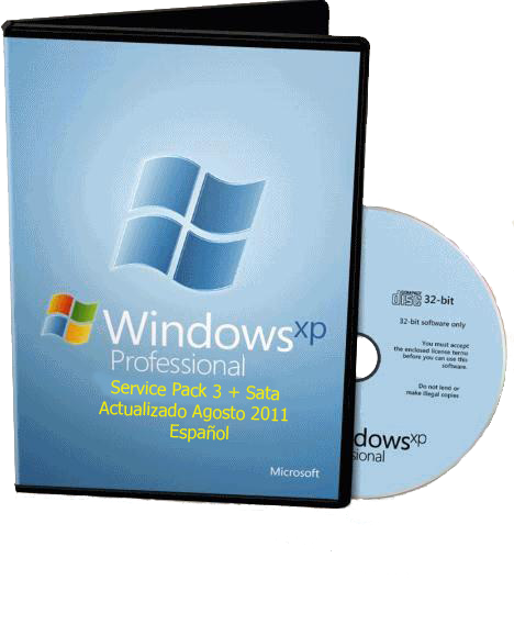 Windows Xp Professional Service Pack 3. 32 Bits Actualizado Agosto 2011 + Sata.   Español